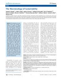 Plos Biology : the MacRoecology of Susta... by Landgraf, Matthias