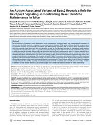 Plos Biology : an Autism-associated Vari... by White, Rob A. H.