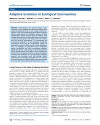 Plos Biology : Adaptive Evolution in Eco... by Corrin, Michael S. C.