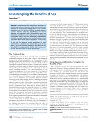 Plos Biology : Disentangling the Benefit... by Public Library of Science (Plos)