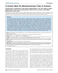 Plos Biology : a Genetic Basis for Mecha... by Flint, Jonathan