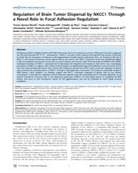 Plos Biology : Regulation of Brain Tumor... by Rich, Jeremy N.