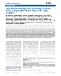 Plos Biology : Cbol Protist Working Grou... by Public Library of Science (Plos)