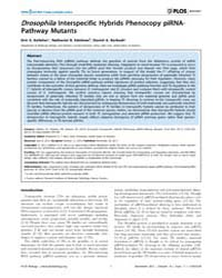 Plos Biology : Drosophila Interspecific ... by Desplan, Claude