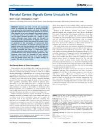 Plos Biology : Parietal Cortex Signals C... by Lyons, Deirdre C.