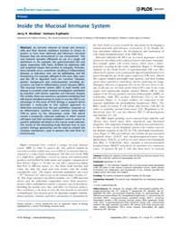 Plos Biology : Inside the Mucosal Immune... by Bruno, John F.