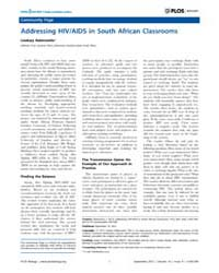 Plos Biology : Addressing Hiv, Volume 10 by Soane, Lucian