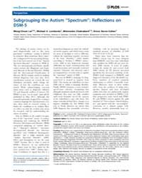 Plos Biology : Subgrouping the Autism ''... by Nestler, Eric
