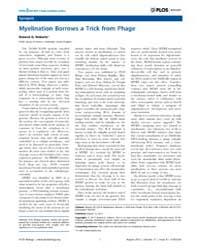 Plos Biology : Myelination Borrows a Tri... by Roberts, Roland G.
