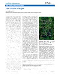 Plos Biology : the Passion Principle, Vo... by Simberloff, Daniel