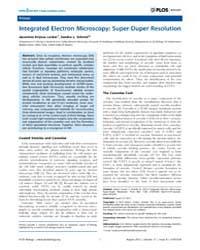 Plos Biology : Integrated Electron Micro... by Locker, Jacomine Krijnse