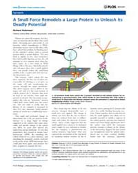 Plos Biology : a Small Force Remodels a ... by Robinson, Richard