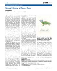 Plos Biology : Natural History, a Master... by Dobson, Andy