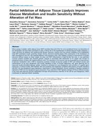 Plos Biology : Partial Inhibition of Adi... by O'rahilly, Stephen