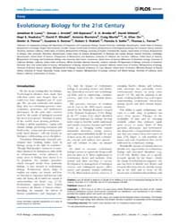 Plos Biology : Evolutionary Biology for ... by Losos, Jonathan B.