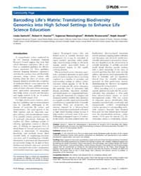 Plos Biology : Barcoding Life's Matrix ;... by Santschi, Linda
