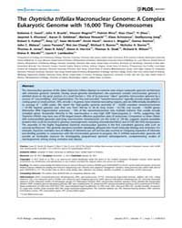 Plos Biology : the Oxytricha Trifallax M... by Eisen, Jonathan A.