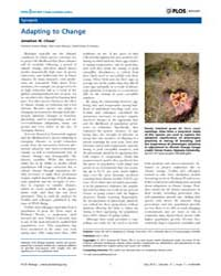 Plos Biology : Adapting to Change, Volum... by Chase, Jonathan M.