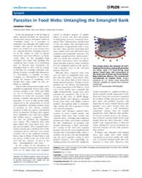 Plos Biology : Parasites in Food Webs ; ... by Chase, Jonathan