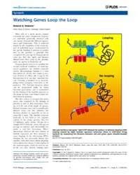 Plos Biology : Watching Genes Loop the L... by Roberts, Roland, G.