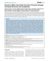 Plos Biology : Parasites Affect Food Web... by Loreau, Michel
