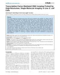 Plos Biology : Transcription-factor-medi... by Misteli, Tom