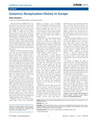 Plos Biology : Genomics Recapitulates Hi... by Meadows, Robin