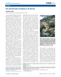 Plos Biology : an Inordinate Fondness of... by Chase, Jonathan