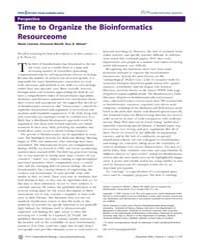 Plos Computational Biology : Time to Org... by N, Cannata