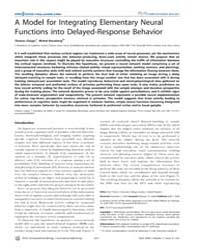 Plos Computational Biology : a Model for... by Friston, Karl