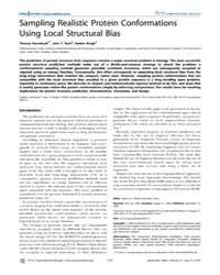Plos Computational Biology : Sampling Re... by Lai, Luhua