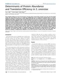 Plos Computational Biology : Determinant... by Gerstein, Mark, B.