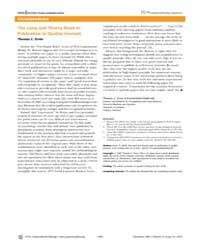 Plos Computational Biology : the Long an... by Erren, Thomas, C.