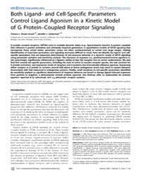 Plos Computational Biology : Both Ligand... by Rundell, Ann