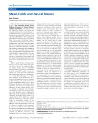 Plos Computational Biology : Mean-fields... by Karl, Friston