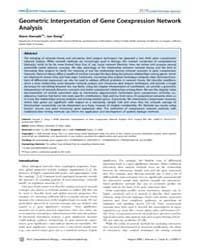 Plos Computational Biology : Geometric I... by Miyano, Satoru
