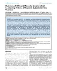 Plos Computational Biology : Mutations o... by Sidow, Arend