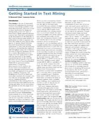 Plos Computational Biology : Getting Sta... by Troyanskaya, Olga
