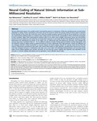 Plos Computational Biology : Neural Codi... by Friston, Karl, J.