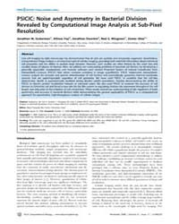 Plos Computational Biology : Psicic ; No... by Feingold, Mario