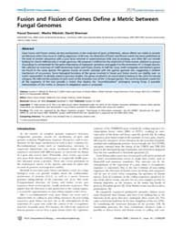 Plos Computational Biology : Fusion and ... by Enright, Anton, James