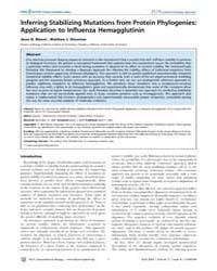 Plos Computational Biology : Inferring S... by Shakhnovich, Eugene, I.