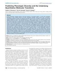 Plos Computational Biology : Predicting ... by Rao, Christopher