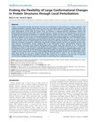 Plos Computational Biology : Probing the... by Levitt, Michael
