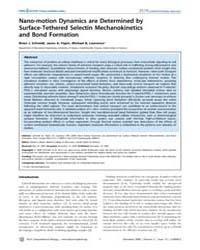Plos Computational Biology : Nano-motion... by Beard, Daniel, A.