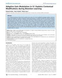 Plos Computational Biology : Adaptive Ga... by Friston, Karl, J.