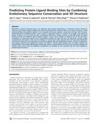 Plos Computational Biology : Predicting ... by Lengauer, Thomas
