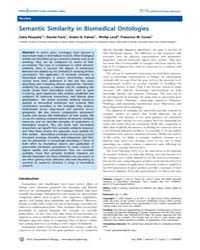 Plos Computational Biology : Semantic Si... by Pesquita, Catia