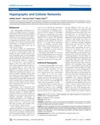 Plos Computational Biology : Hypergraphs... by Stelling, Jorg