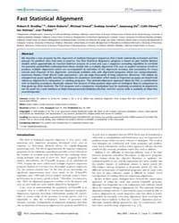 Plos Computational Biology : Fast Statis... by Siepel, Adam